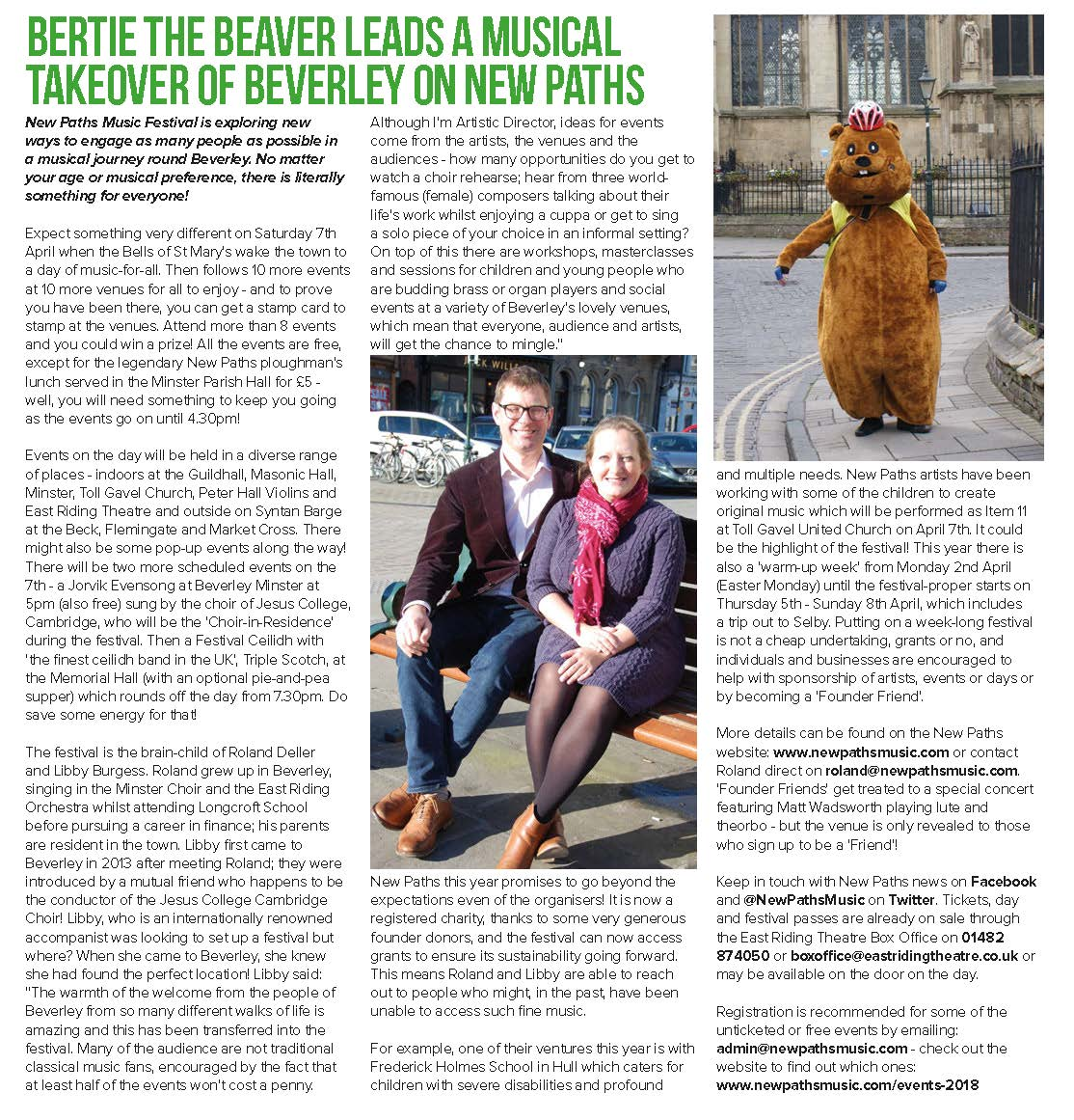 Just Beverley Issue 38 (March 2018) Page 12 - New Paths